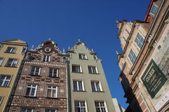 Gdansk historical brick buildings Royalty Free Stock Images