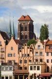 gdansk houses utsmyckat Royaltyfri Bild