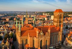 Free Gdansk Is A City In Poland. Gdansk In The Morning Rays, The Sun Is Reflected From The Roofs Of The Old City. Royalty Free Stock Photos - 157925068