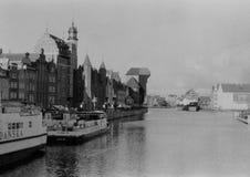 Gdansk kran. Fotografering för Bildbyråer