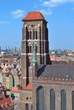 gdansk kyrklig mary st Arkivbild