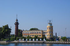 GDANSK - LIGHTHOUSE AND HARBOR MASTER Stock Photos