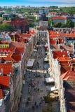 Gdansk Long Street Royalty Free Stock Photography