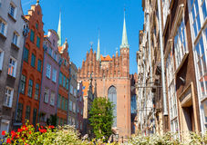 Gdansk.  Mariacka street Royalty Free Stock Image
