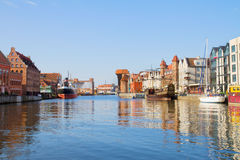 Gdansk marina. In old town,  Poland Stock Photos