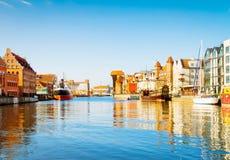 Gdansk marina, Polen arkivfoto