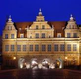 Gdansk na noite. Imagens de Stock
