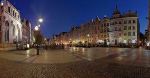 Gdansk nachts Stockbild