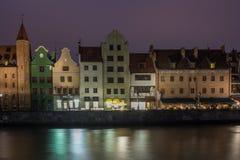 Gdansk nachts Lizenzfreie Stockfotos