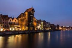 Gdansk nachts Lizenzfreie Stockfotografie