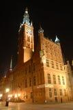 Gdansk nachts Stockfotografie