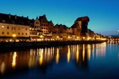 gdansk natt Arkivbilder
