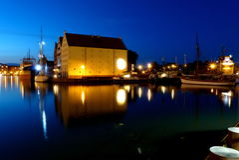 gdansk natt Fotografering för Bildbyråer