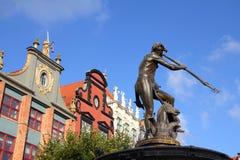 Gdansk - Neptune Fountain Royalty Free Stock Photos