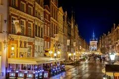Gdansk at night stock photos