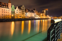 Gdansk at night. Beautiful night streets of Gdansk Stock Photo