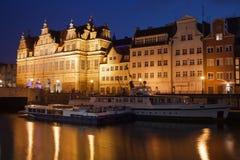 Gdansk by Night stock photos