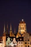 Gdansk by Night Stock Image
