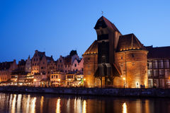 Gdansk by Night Royalty Free Stock Photos