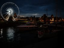 Gdansk by night. Stock Photo
