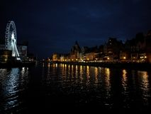 Gdansk by night. Royalty Free Stock Image