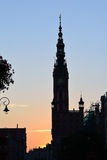 Gdansk at night Royalty Free Stock Images