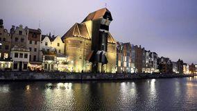 Gdansk Night stock footage