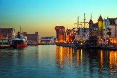 Gdansk at night Royalty Free Stock Image