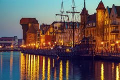 Gdansk at night Stock Photography