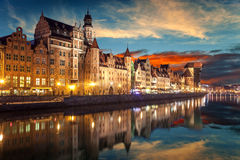 Gdansk at night Royalty Free Stock Photos