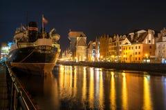 Gdansk night Royalty Free Stock Photography