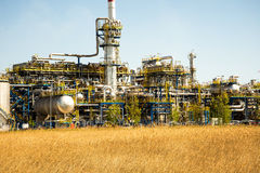 Gdansk oil refinery Royalty Free Stock Image
