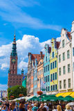 Gdansk-Old City-Long Market street Stock Photography