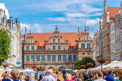 Gdansk-Old City-Long Market street Royalty Free Stock Images