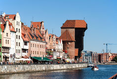 Gdansk old city with medieval crane Royalty Free Stock Image