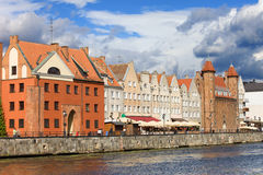 Gdansk Old City in Poland Stock Images