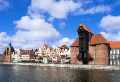 Gdansk old city, Poland. Gdansk old city in Poland with the oldest medieval port crane (Zuraw) in Europe Royalty Free Stock Image