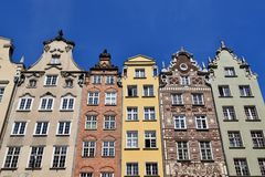 Gdansk old city in Poland. Poland, View on the old city in Gdansk is located at the Baltic sea Stock Photography