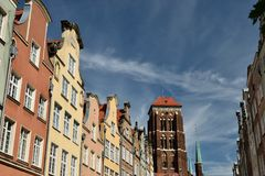 Gdansk old city in Poland. Poland, View on the old city in Gdansk is located at the Baltic sea Stock Photo