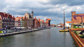 Gdansk. Old city. Gdansk - promenade in the summer Royalty Free Stock Photography
