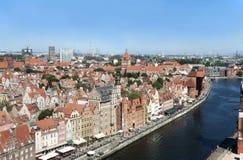 Gdansk old city skyline Stock Photos