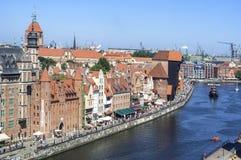 Gdansk old city skyline Royalty Free Stock Photos
