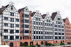 Gdansk old granaries Royalty Free Stock Photography