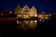 Gdansk - old town. Night shot Stock Photo
