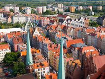 Gdansk Old Town aerial view Stock Photos