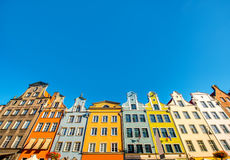 Gdansk old town. Beautiful colorful facades of the buildings in the old town of Gdansk, Poland Royalty Free Stock Image