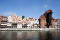 Gdansk Old Town City Skyline Royalty Free Stock Image
