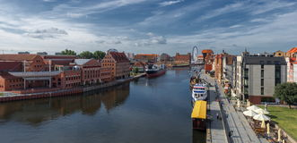 Gdansk old town and famous crane, Polish Zuraw Stock Photos
