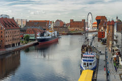 Gdansk old town and famous crane, Polish Zuraw Stock Image