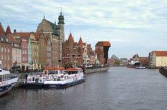 Skyline of Gdansk royalty free stock photography